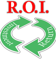 ROI Return On Investment cycle vector image vector image