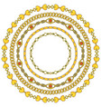 round frame of figured gold chains set isolated on vector image vector image