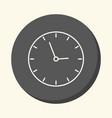 school wall clock circular line icon with vector image vector image