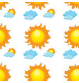 seamless pattern tile cartoon with sun and clouds vector image vector image
