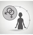 silhouette woman healthy medicine vector image
