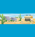 Solar energy concept deserted landscape