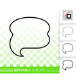 speech bubble banner simple black line icon vector image vector image
