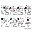 stick figure people love wedding instrument music vector image