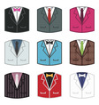 suit icons vector image