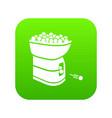tennis ball machine icon green vector image vector image
