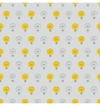 Tile pattern with light bulb vector image