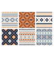 tribal indian seamless pattern color mexican vector image