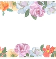 watercolor greeting card with roses vector image vector image