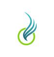 wing abstract fly air logo vector image