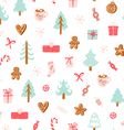 Winter holidays symbols seamless pattern vector image vector image