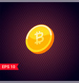 3d golden coins with bitcoin sign vector image vector image