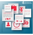 Abstract paper infographic background