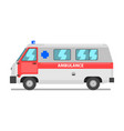 ambulance service van emergency medical vehicle vector image vector image