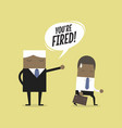 angry boss firing employee vector image