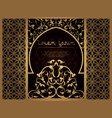 arab flower frame for laser cutting page template vector image