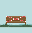 bench wrapped with warning tape vector image vector image