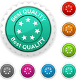 Best quality award vector image vector image