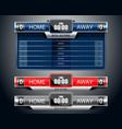 box scoreboard sport game vector image vector image