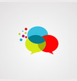 bubble chat logo iconelement and template vector image vector image
