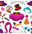 carnival hat and accessories wig and skirt vector image