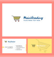 cart logo design with tagline front and back vector image vector image