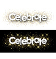 Celebrate paper banner vector image vector image