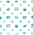 chart icons pattern seamless white background vector image vector image