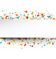Confetti celebration background vector image