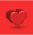 creative decoration for valentines day 3d heart vector image vector image