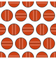 cricket ball seamless pattern sports equipment vector image vector image