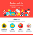database analytics website design vector image vector image