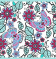 decorative pattern with floral ornament and vector image vector image