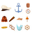design adventure and sea symbol set of vector image vector image