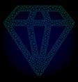 diamond polygonal frame mesh vector image vector image