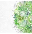 Doodle 3D White Paper Pattern With Circle Shape vector image vector image