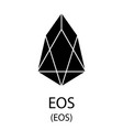 eos cryptocurrency symbol vector image vector image