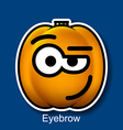 Eyebrow vector image vector image