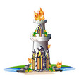 fairytale tower with crystals vector image vector image