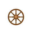 flat style ship sailboat steering wheel icon vector image vector image