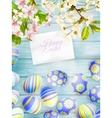 Flowers and easter eggs EPS 10 vector image vector image