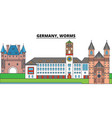 germany worms city skyline architecture vector image vector image