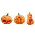 halloween carved pumpkin cartoon characters jack vector image vector image