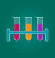 hemistry icon liquid in laboratory test tubes vector image