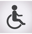 human on wheelchair disabled icon vector image