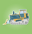 icon with farm tractor vector image