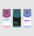 indian floral medallion banners mandala ornament vector image