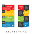 infographic color set with symbol in black color vector image