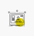 interface website user layout design line icon vector image