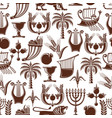 israel jewish culture seamless pattern vector image vector image